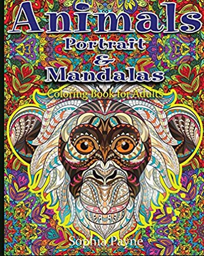 Animals Portrait & Mandalas: coloring book for adults (Volume 2)