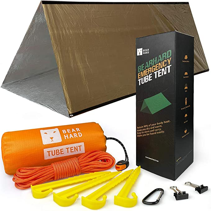 CUHAWUDBA Relief Tents Outdoor thermal insulation Tent Travel Tent Camping Tent Refuge Emergency Tents Sports Outdoor Tents Silver