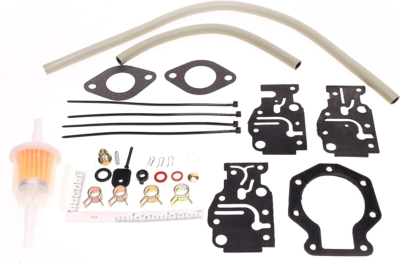 E8RLCUD E8SRLCUD J8RLCUD Engines Carburetor Repair Kit for 1987 Evinrude 8HP