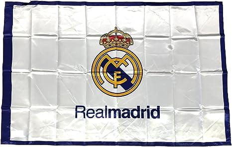 Real Madrid C.F. - Bandera oficial del Real Madrid100 % poliéster ...