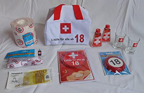 1hilfe Tasche Gefüllt 18 18ter Geburtstag Erste Hilfe Mit Inhalt