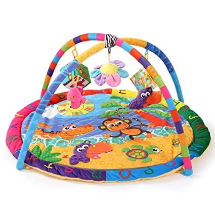 6039ea186dd QETU Baby Activity Play Mat Baby Gym Educational Fitness Frame Multi-Bracket  Baby Toys Game