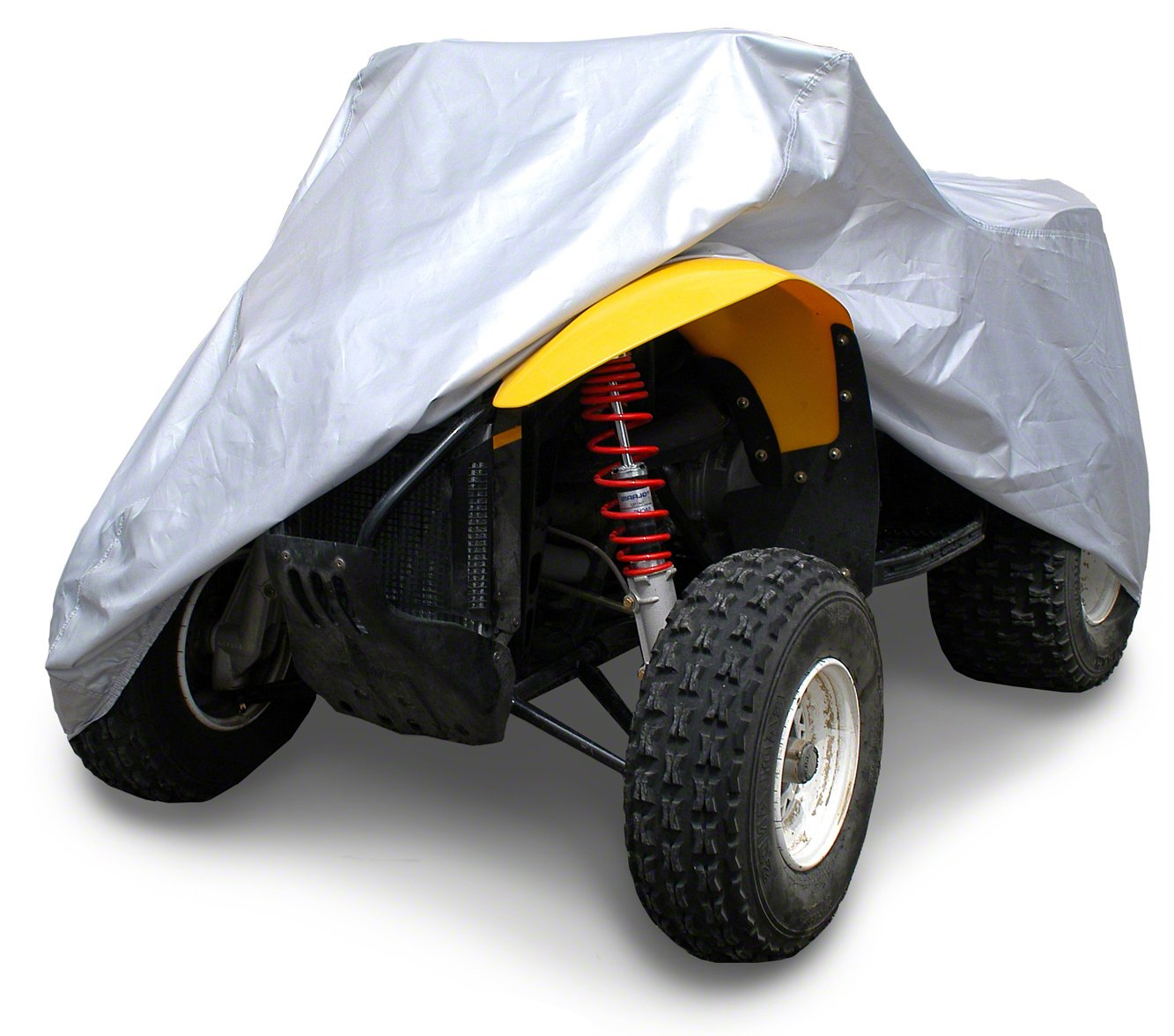 Coverking//MODA UAVLGNRE62 Universal Fit All-Weather Waterproof Cover for ATV Large with Rack Silverguard