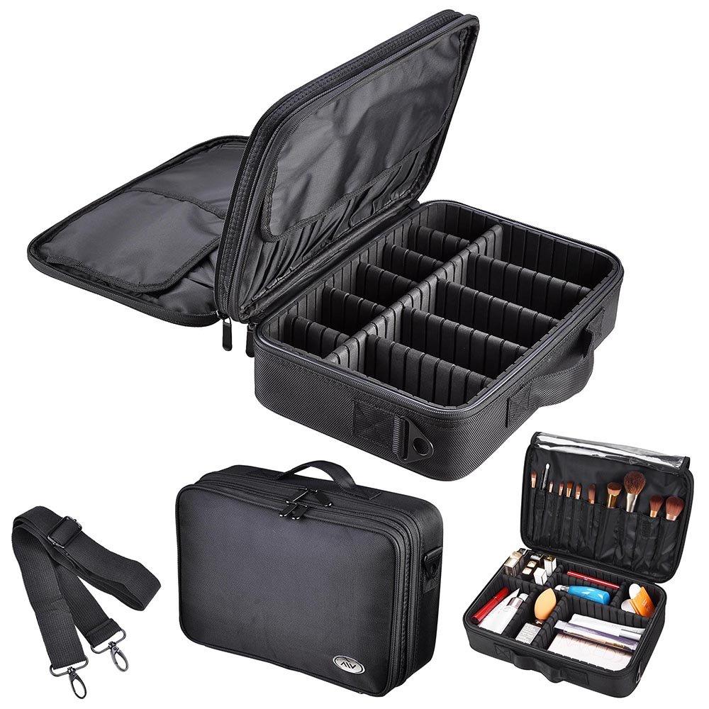 AW 13 1200D Oxford Makeup Train Case Artist Cosmetic Organizer Storage Bag Soft Protable Professional