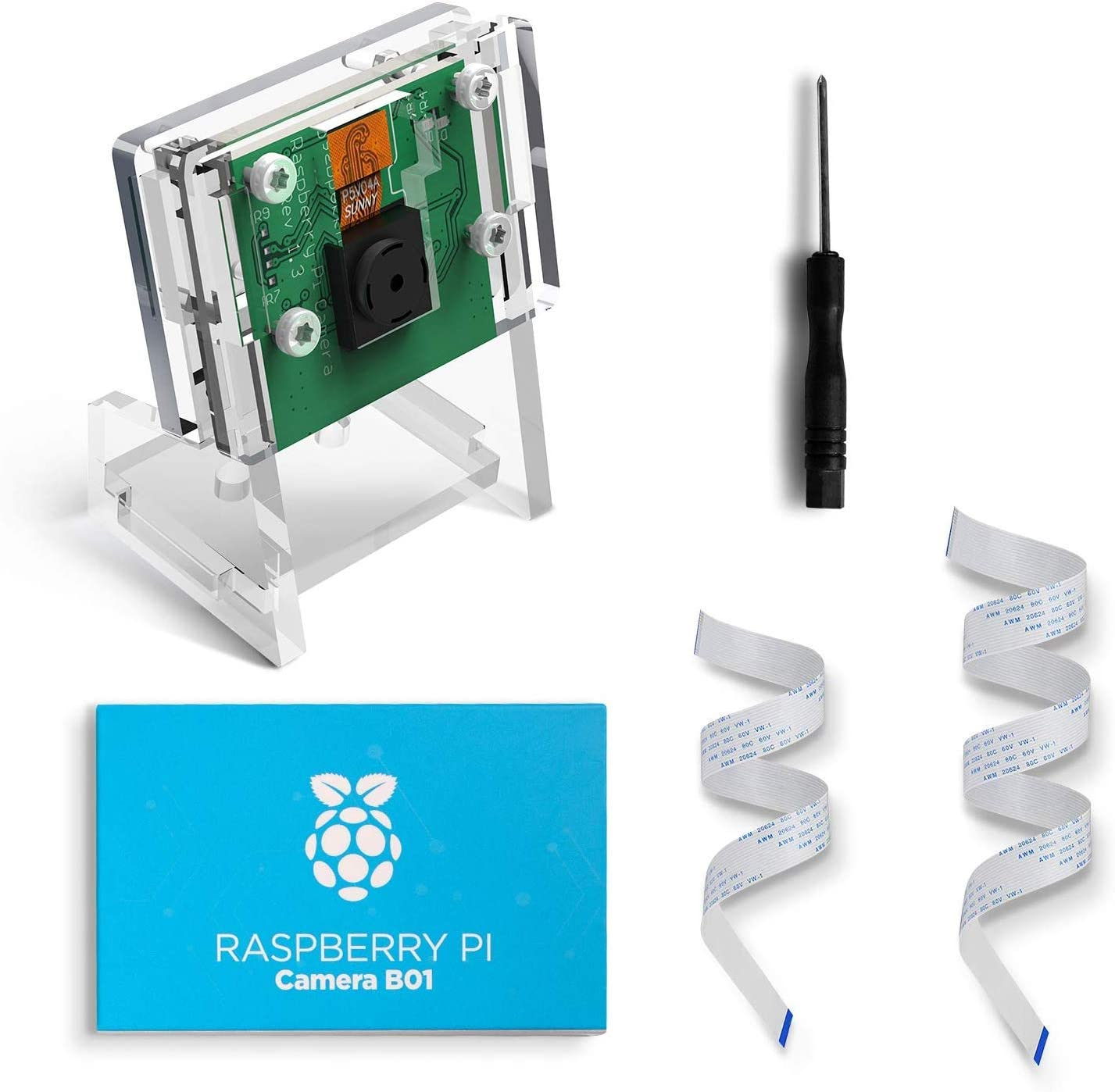 LABISTS B01 Raspberry Pi Camera Module 5M 1080P, Pi Camera avec Étui...