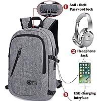 Mochilas Escolares - Mochila Antirrobo Para Portatil 15.6 pulgadas con USB Puerto y Puerto de Auriculares, Multiusos Daypacks Impermeable