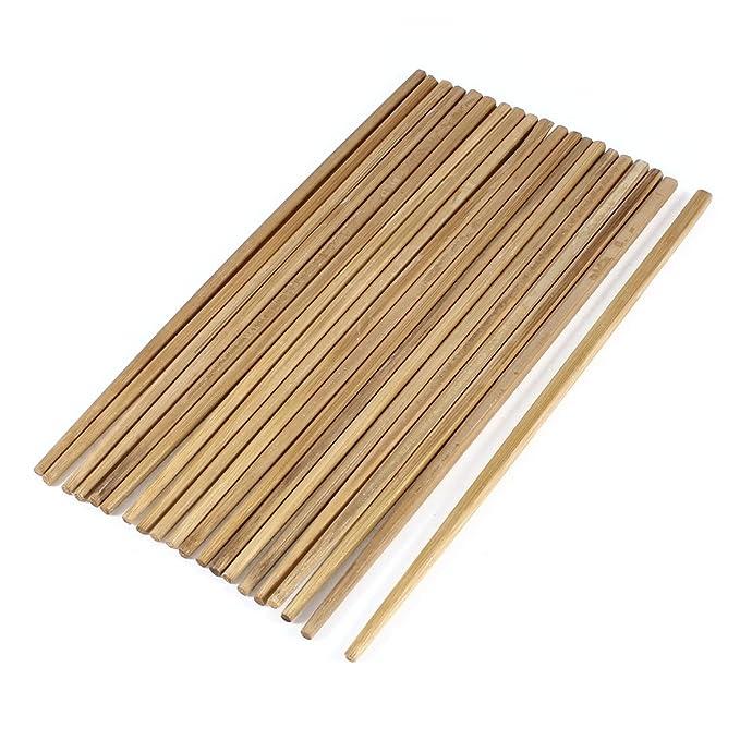10 Paires 24 cm de Long marron cuisine traditionnelle de baguettes chinoises en bambou