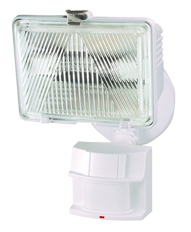 Heath Zenith HZ-5525-WH Heathco Security Light, 120 Vac, Halogen, 250 W