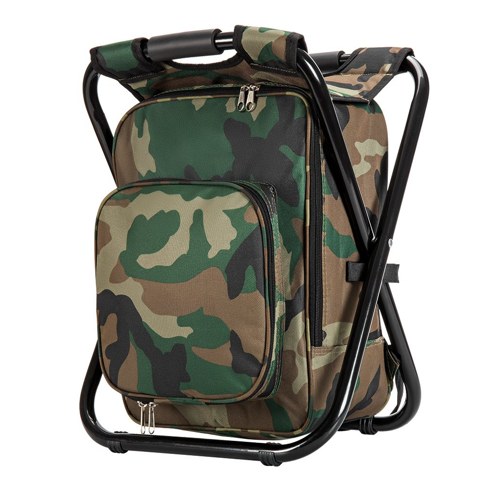 Upgrade Large Size Ultralight Backpack Cooler Chair Portable u0026 Folding C&ing Chair Stool Backpack with Cooler Insulated Picnic Bag Hiking Camouflage ...  sc 1 st  Amazon.com & Amazon.com : Upgrade Large Size Ultralight Backpack Cooler Chair ...