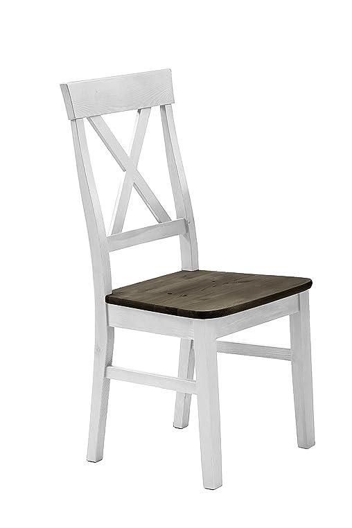Jumek 126 Wss/gra Stuhl, Holz, Weiß Grau, 45 X 94