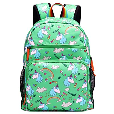 Kemy's Unicorn Backpack for Girls Rainbow Inicorn Schoolbag Primary Junior Elementary High School for Kids Packie Water Resistant Large Birthday Gift Teal Green | Kids' Backpacks