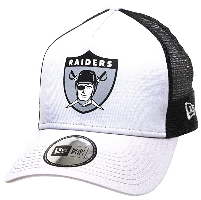 New Era NFL OAKLAND RAIDERS Throwback 9FORTY Trucker Cap  Amazon.it   Abbigliamento d70778855d81