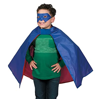 OTC - Child's Super Hero Cape and Mask Set, Made of Polyester: Toys & Games