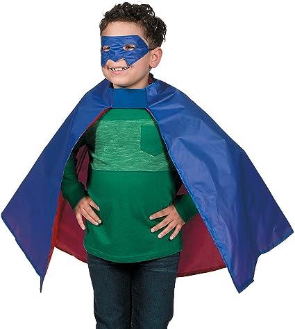 BLACK ADULTS SUPERHERO CAPE MASK FANCY DRESS COSTUME COMIC FILM HERO HALLOWEEN