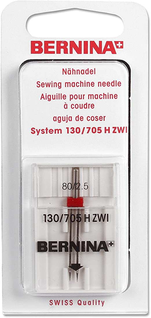 Bernina Aguja de Zwilling (80 agujas para máquina de coser: Amazon ...