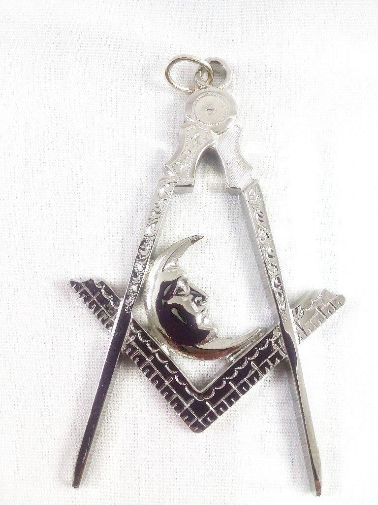 D1803 Jewel Officer Masonic Junior Deacon in 3'' Silver