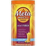 Metamucil, Psyllium Husk Powder Fiber Supplement, Plant Based, Sugar-Free 4-in-1 Fiber for Digestive Health, Orange Flavored,
