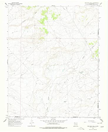 Amazon.com: Fire Rock Well NM topo map, 1:24000 Scale, 7.5 X 7.5 ...