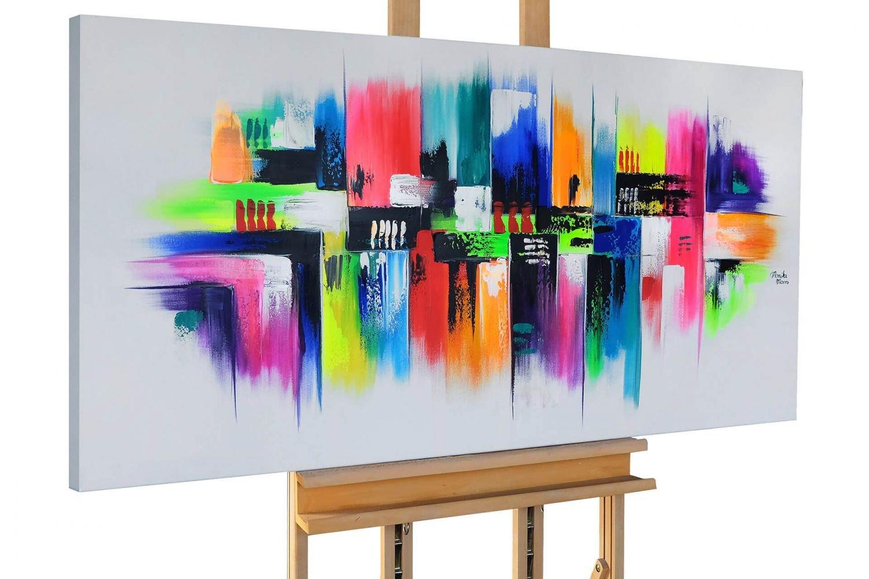 KunstLoft® Acryl Gemälde \'Mezclado\' 140x70cm | original handgemalte ...