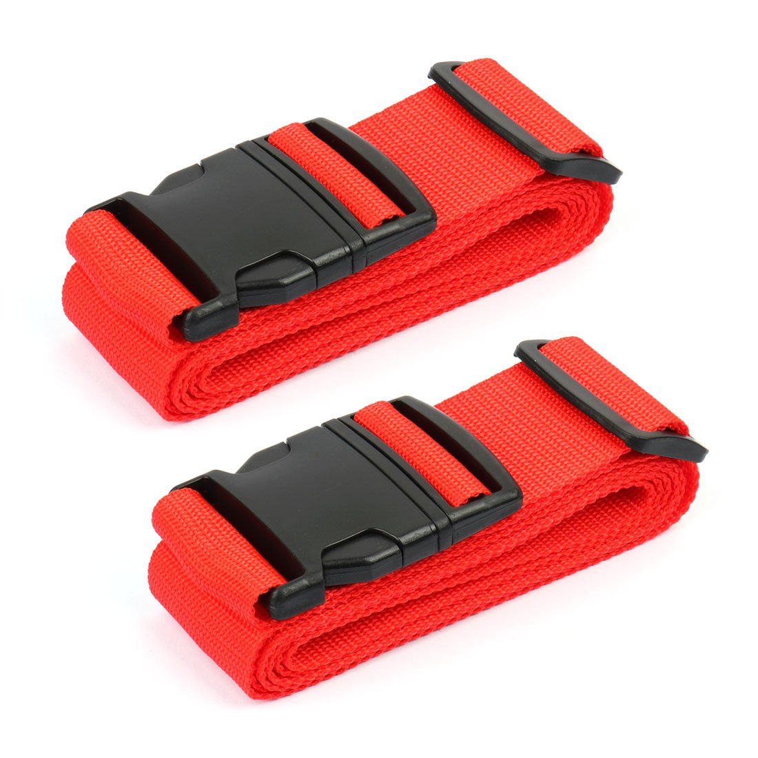 uxcell® 2 Pack Adjustable Travel Luggage Suitcase Strap Baggage Backpack Bag Cross Belt 2M, Four Colors a17011300ux0272