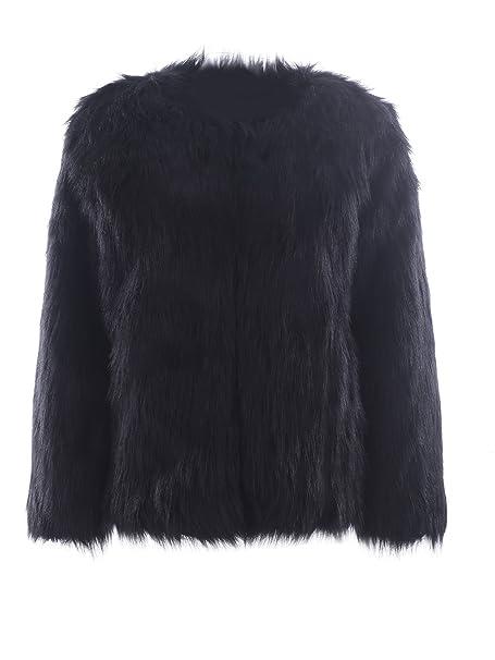 623484a509cc BerryGo Women's Fluffy Shaggy Faux Fur Coat Outwear: Amazon.ca ...