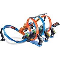 MATTEL FTB65 Hot Wheels Corkscrew Crash Track Set,BLUE