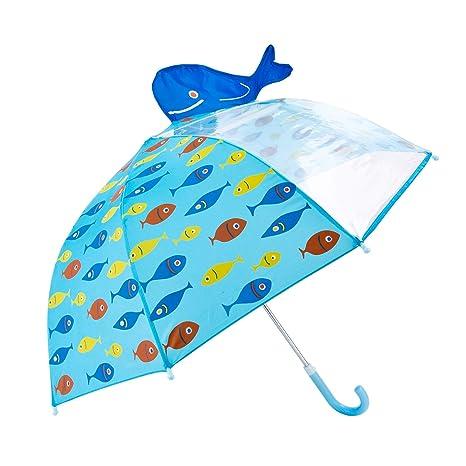 Paraguas para Niños, Hibbent Paraguas con Transparente Ventana Antiviento