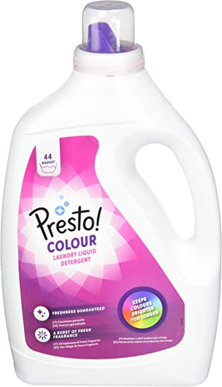 Marca Amazon - Presto! Detergente color líquido, 176 lavados (4 Packs, 44 cada uno)