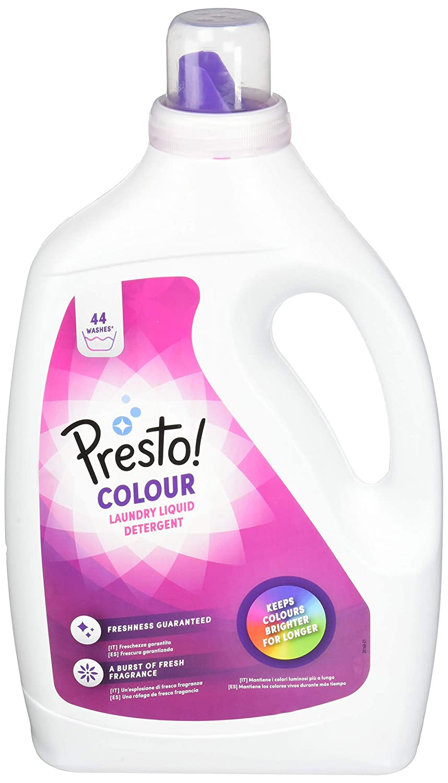 Marca Amazon - Presto! Detergente líquido bebé, 176 lavados (4 Packs, 44 cada uno)