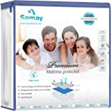 Samay Waterproof Mattress Cover Premium Hypoallergenic Mattress Protector, Queen Size