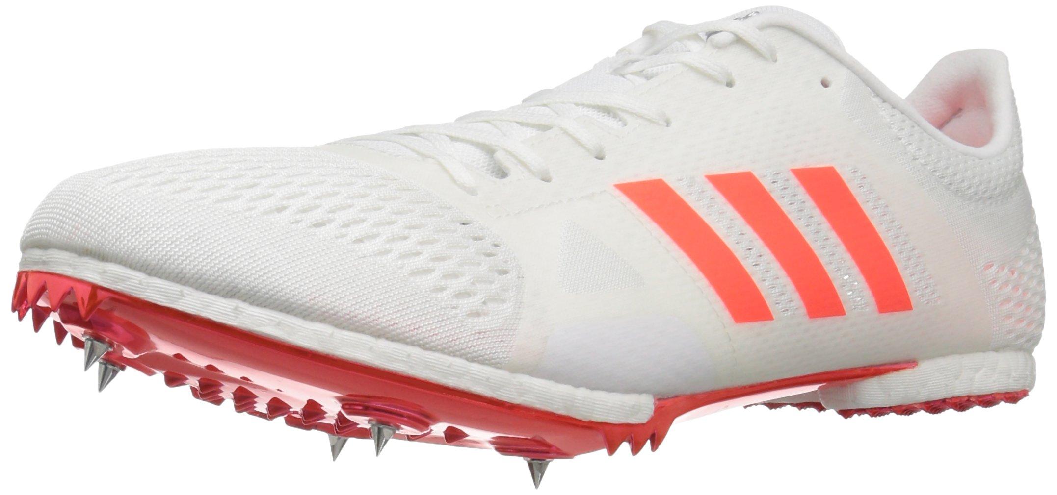 adidas Adizero MD Track Shoe, White/Infrared/Metallic/Silver, 5.5 M US by adidas