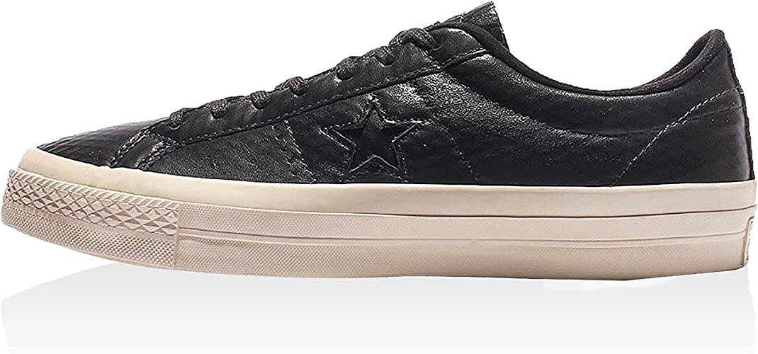 Aumentar Retencion nacimiento  Amazon.com | Converse One Star Ox Almost Black Leather Sneakers (12 D(M) US  Men) | Fashion Sneakers