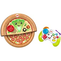 Fisher-Price Laugh & Learn Game and Pizza Party Gift Set of 2 toys with lights, music and learning content for baby and toddlers