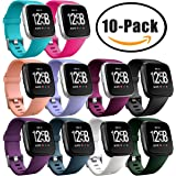 HUMENN For Fitbit Versa Strap, Classic Adjustable Replacement Sport Wristband for Fitbit Versa Smartwatch Large Small, 12 Colours