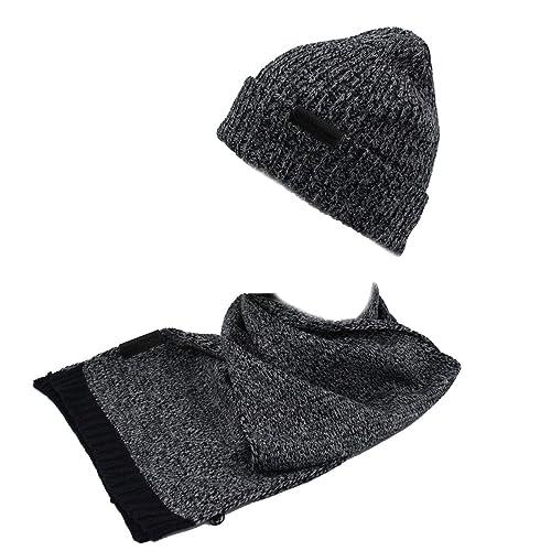 GIANMARCO VENTURI Set sciarpa e cappello uomo 100% acrilico in box 71800  navy dba446b9c5e5
