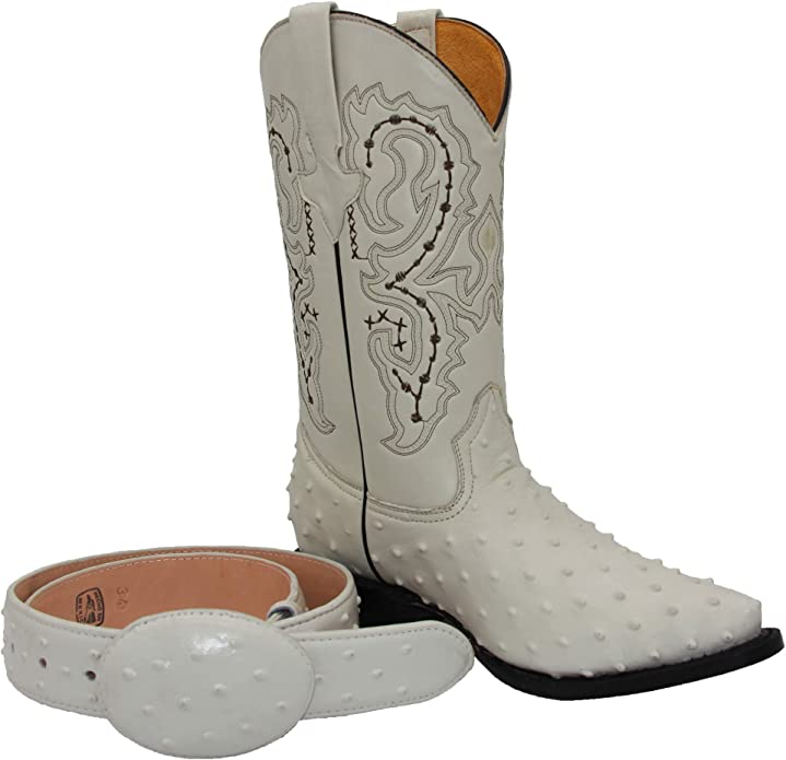 Details about  /Mens Western Cowboy Boots Black Cherry Ostrich Quill Print Leather Square Bota