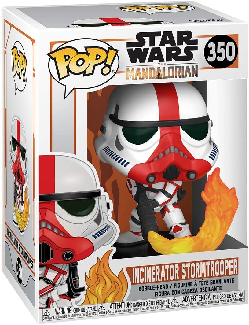 Mandalorian-Incinerator Stormtrooper Collectible Toy Multicolour Funko 45542 POP Star Wars