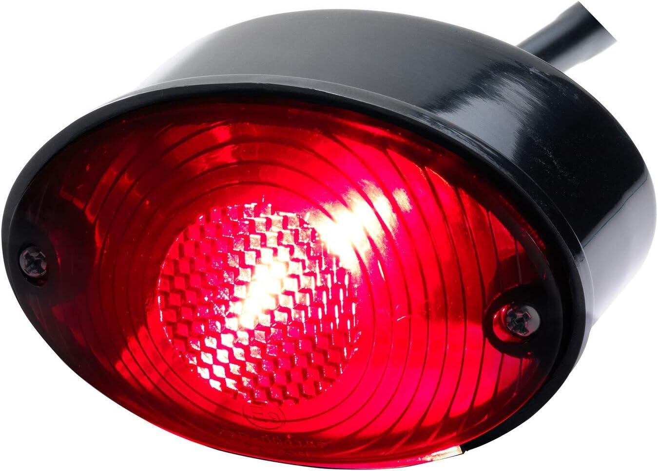 Motorrad Rücklicht Bremslicht Cat Eye Schwarz Smoke Getönt Quad Atv Roller E Geprüft Auto
