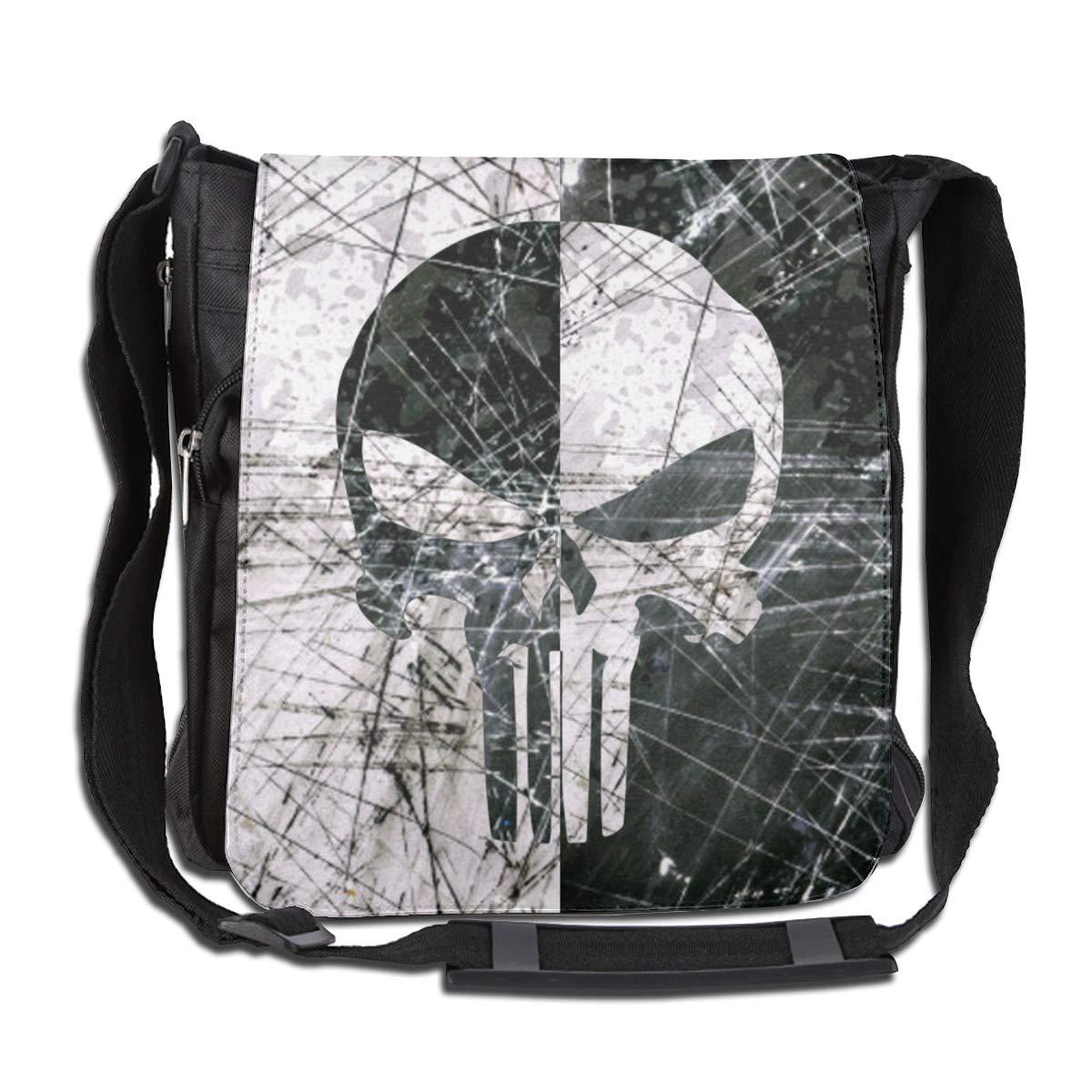 Unisex Pu-nis-her Printed Vertical Crossbody Single Shoulder Bag With Mini Adjustable Strap Travelling Bag