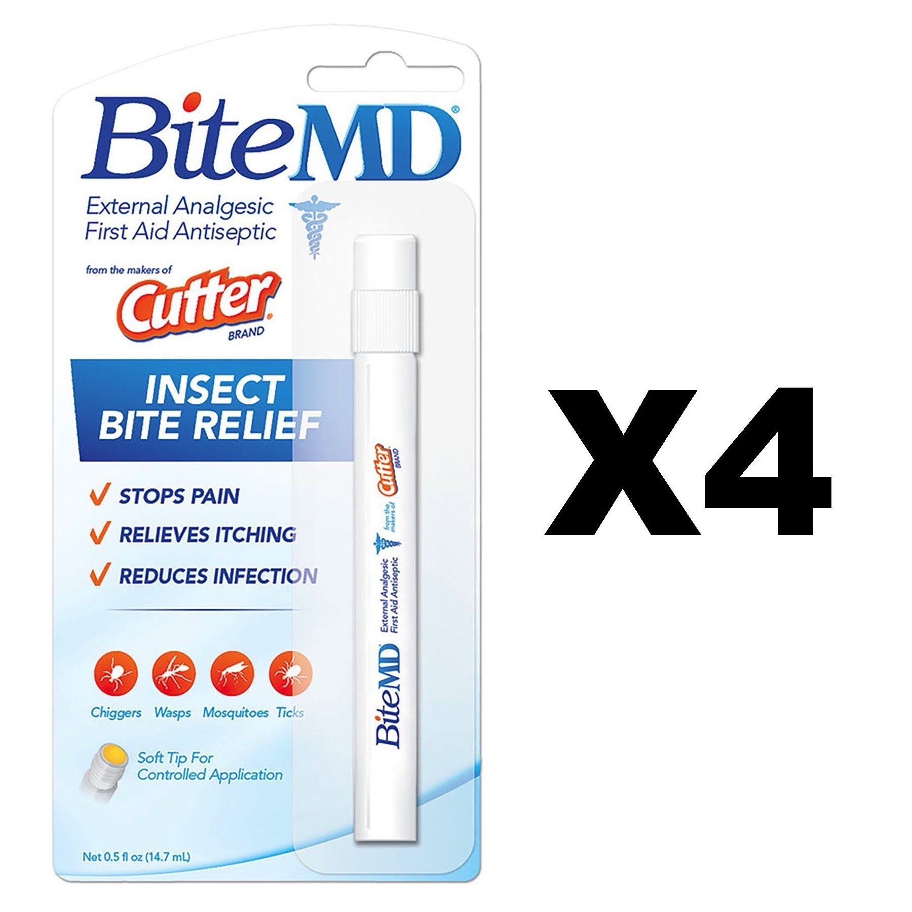 Cutter Bite MD Insect Bite Relief 0.5 oz (Pack of 4)