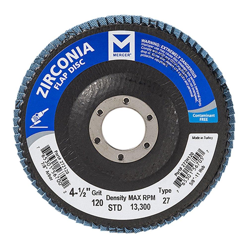 Mercer Industries 272120 Zirconia Flap Disc, Type