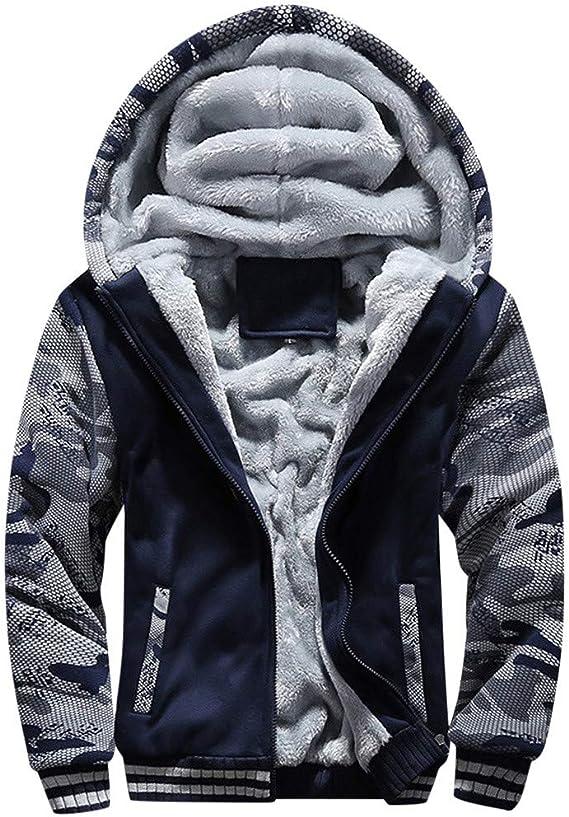 Veste à Capuche Sport Homme avec Zippée Hiver Chaud Sweats à