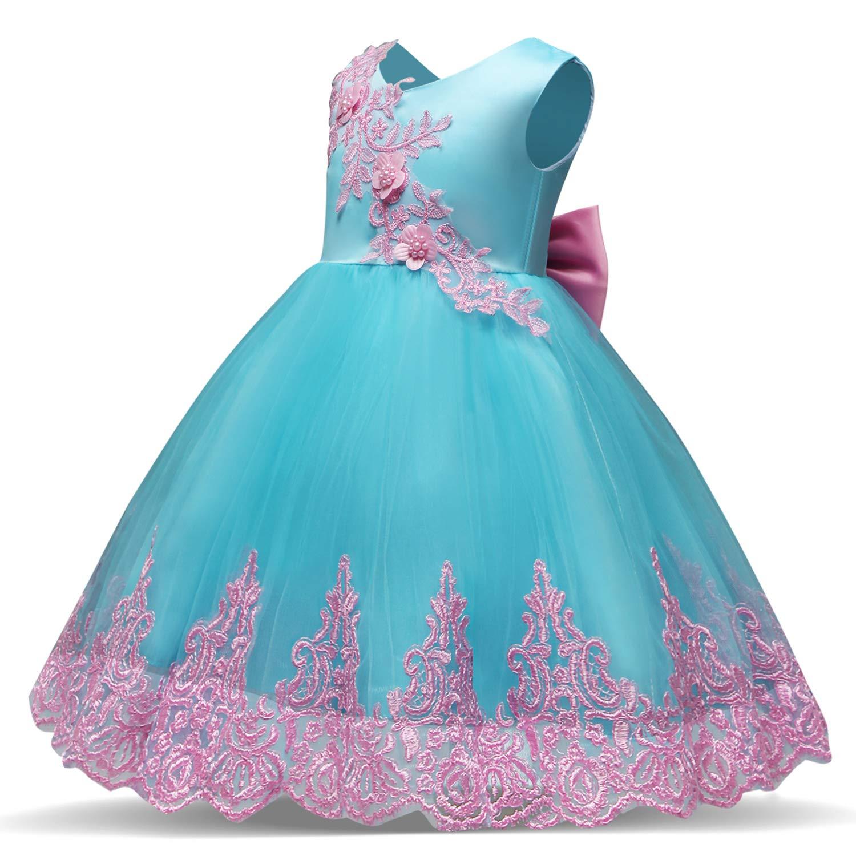 30cd213c4e6 Amazon.com  NNJXD Toddler Princess Flower Dress Baby Girls Birthday Wedding  Party Dresses  Clothing