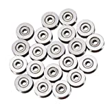 20pcs V623ZZ Miniature Steel V-groove Guide Pulley