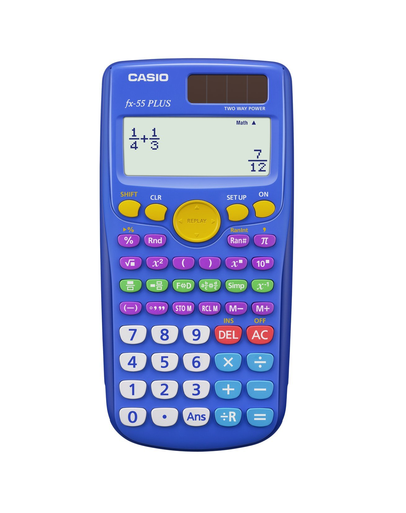 Casio fx-55 PLUS Elementary/Middle School Fraction Calculator, Pack of 10 (Teacher Pack)