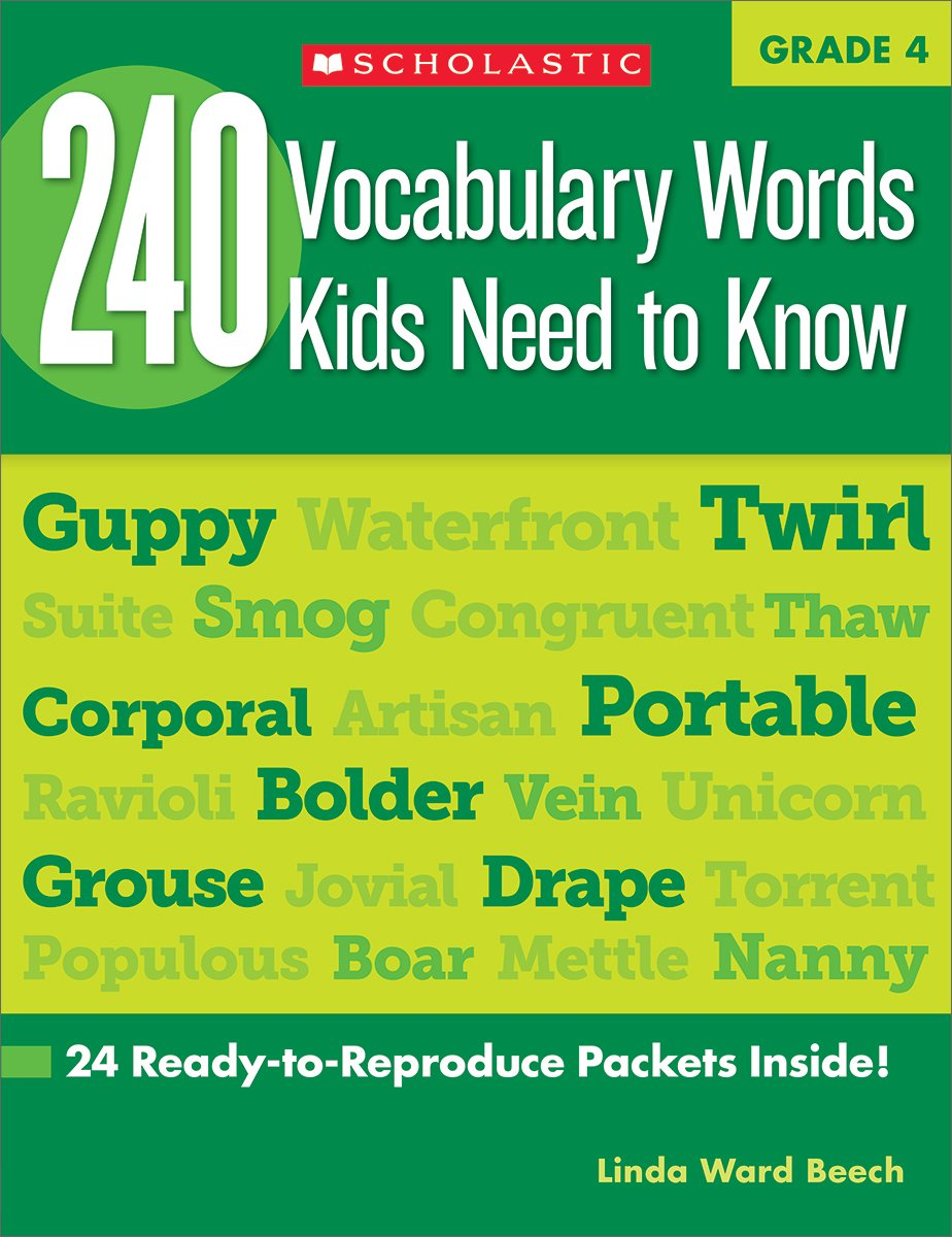 240 vocabulary words kids need to know grade 4 24 ready to 240 vocabulary words kids need to know grade 4 24 ready to reproduce packets inside linda beech 9780545468640 amazon books publicscrutiny Image collections