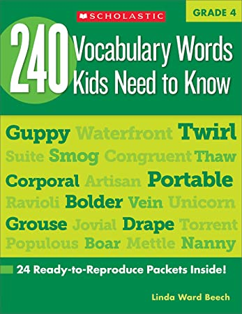 Worksheets Vocabulary Words For Kids 240 vocabulary words kids need to know grade 4 24 ready to