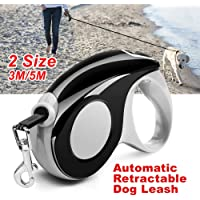 Patented 360° Tangle-Free, Heavy Duty Retractable Dog Leash with Anti-Slip Handle; 3m & 5m Strong Nylon Tape/Ribbon; One…