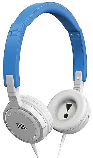 JBL T300A Auriculares supraaurales con mando de control de 1 botón y micrófono, colores azul y plateado: Amazon.es: Electrónica
