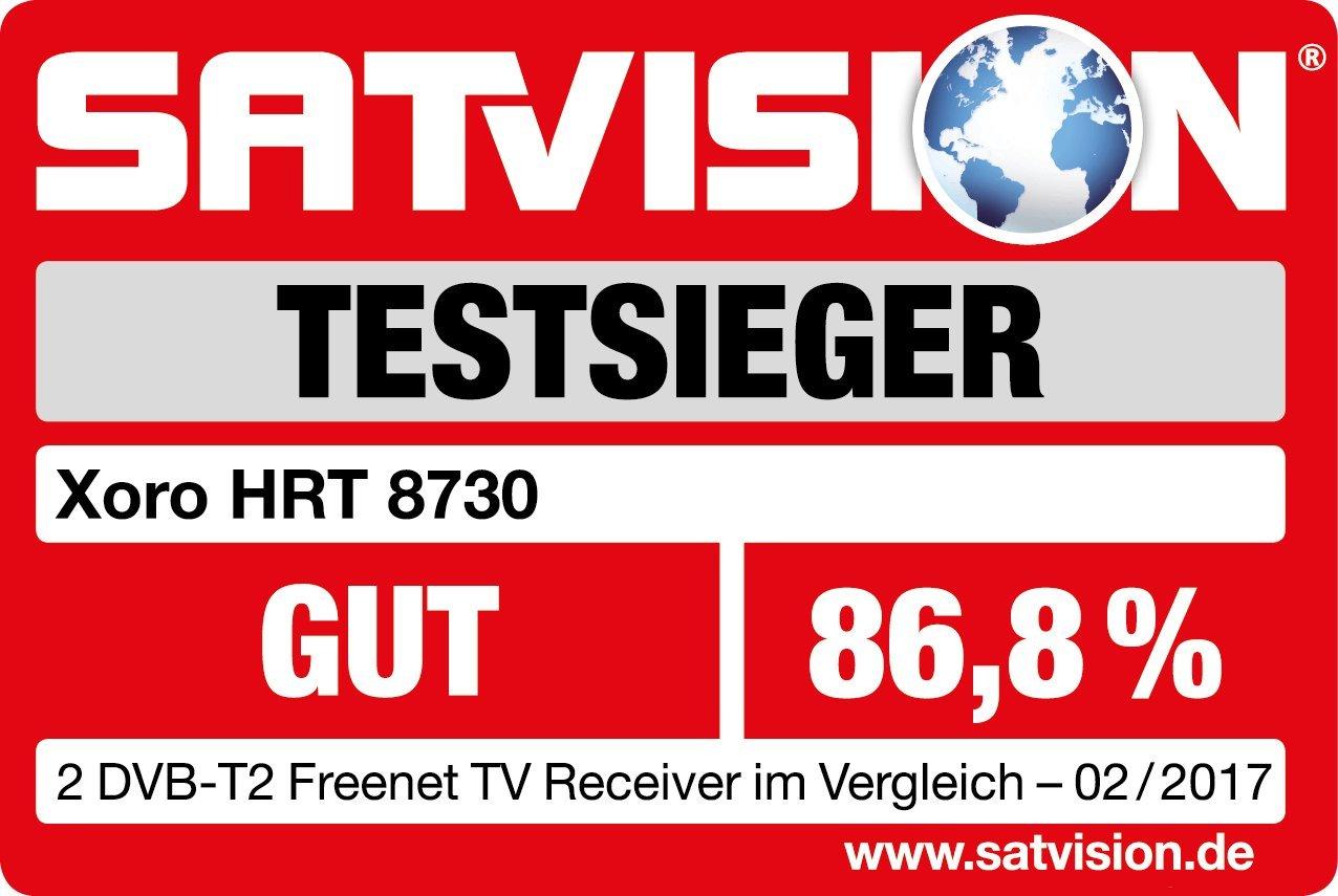 H.265, HDTV, HDMI, sistema di accesso Irdeto, Mediaplayer, USB 2.0, 12/V Nero Xoro HRT 8719/Full HD HEVC DVB-T//T2/Ricevitore